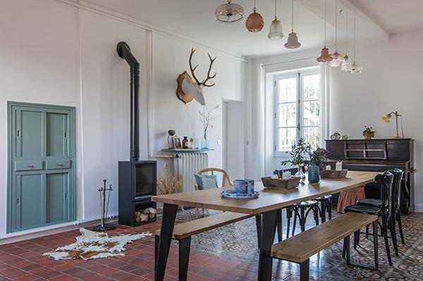 Salle-à-manger - Maison d'hôtes Maison Paulette - Architecte d'intérieur Studio Mariekke - Paris
