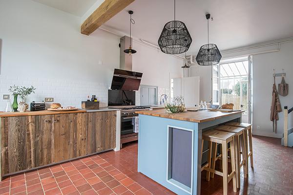 Cuisine de style shaker - old new - Maison d'hôtes Maison Paulette - Architecte d'intérieur Studio Mariekke - Paris