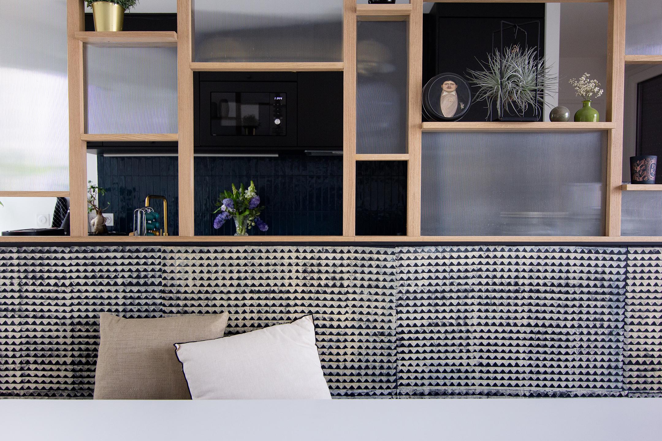 Banquette salle-à-manger - Architecte d'intérieur Studio Mariekke - Paris